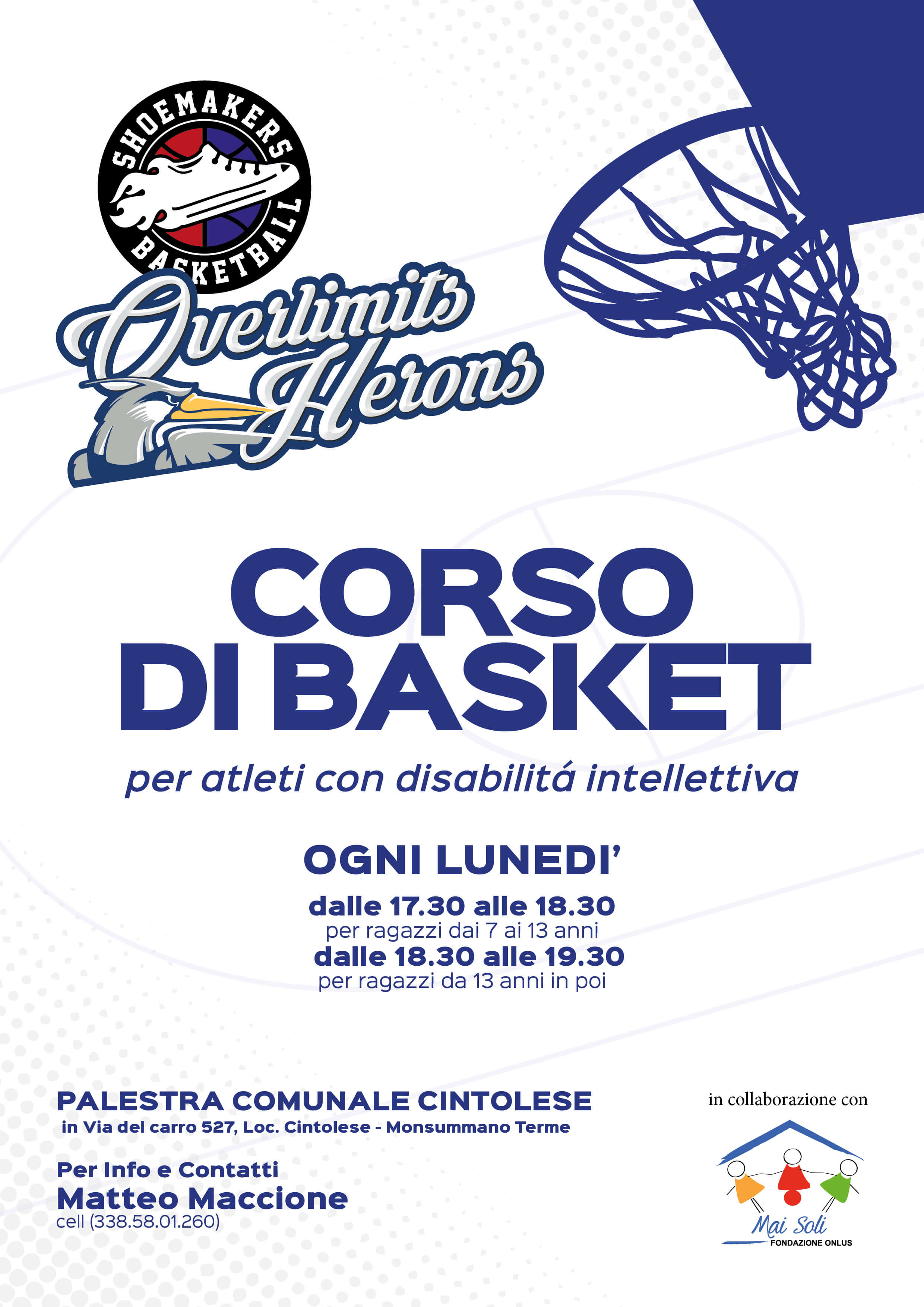 Corsi di Basket Shoemakers Overlimits 2019